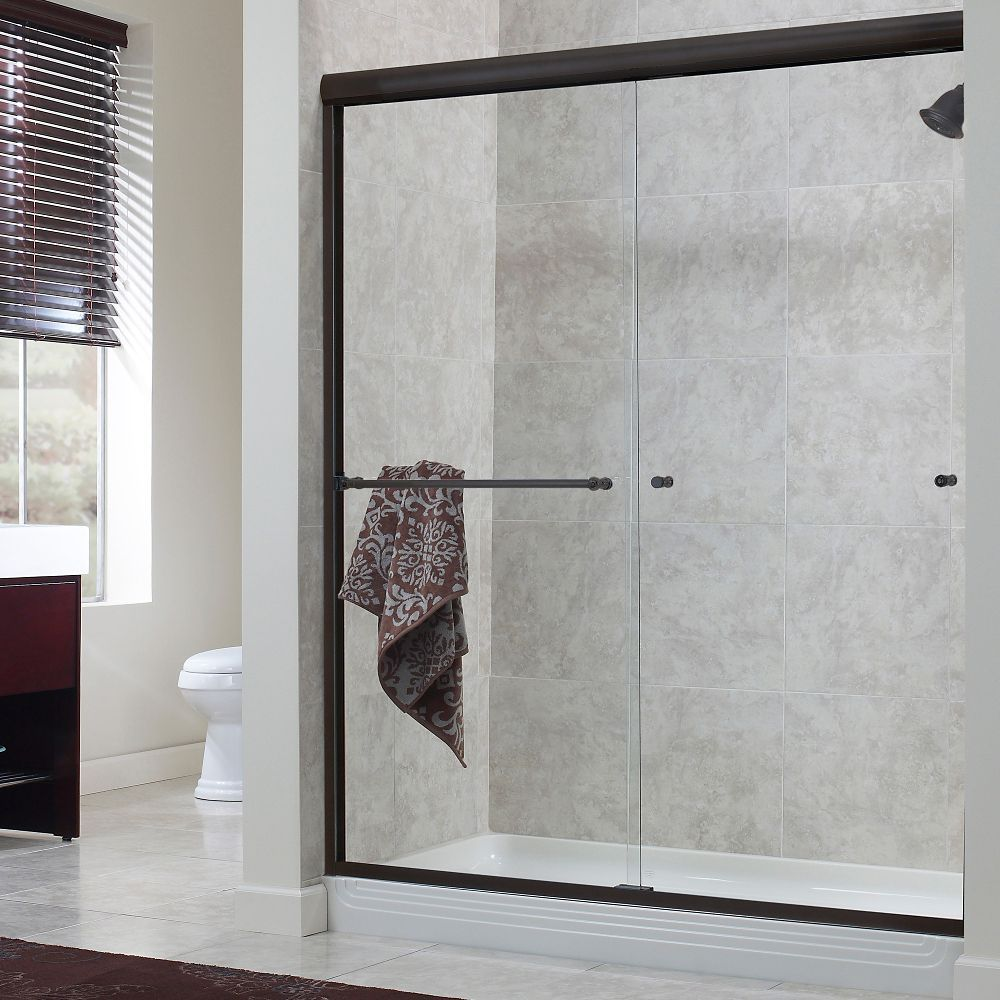 Cove 44 Inch To 48 Inch X 72 Inch H. Frameless Sliding Shower Door In