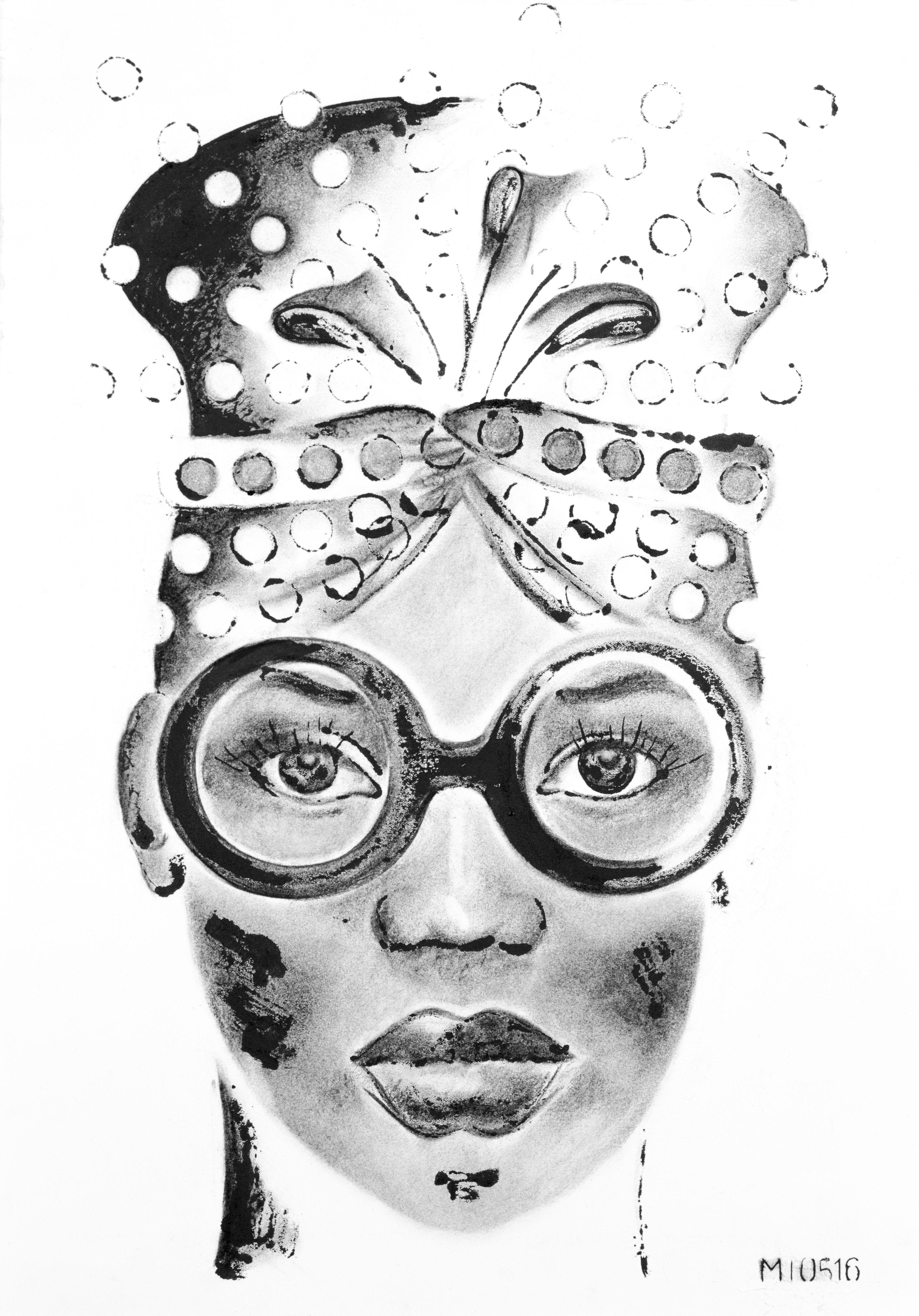 F2-II - Fabulous Femme Forte - 2014 - charcoal, inkt - 400*520