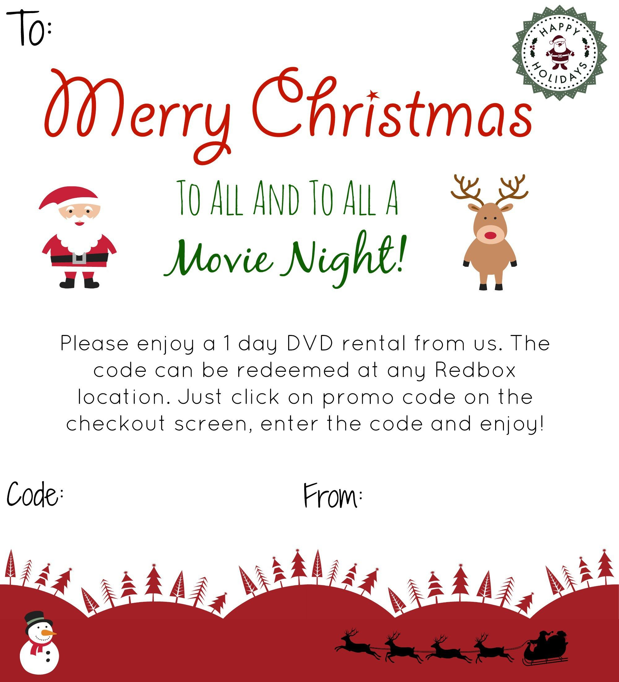Give The Gift of RedBox Neighbor christmas gifts