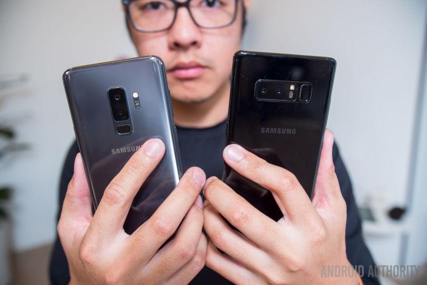 Samsung Galaxy S9 Plus Vs Note 8 A Glimpse Of The Note 9 Samsung Galaxy S9 Samsung Note 9