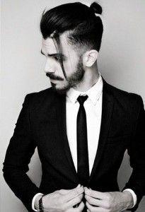 Coiffure Homme Queue, Chignon Homme, Cheveux Cour, Photo Coiffure Homme, Coiffure  Homme