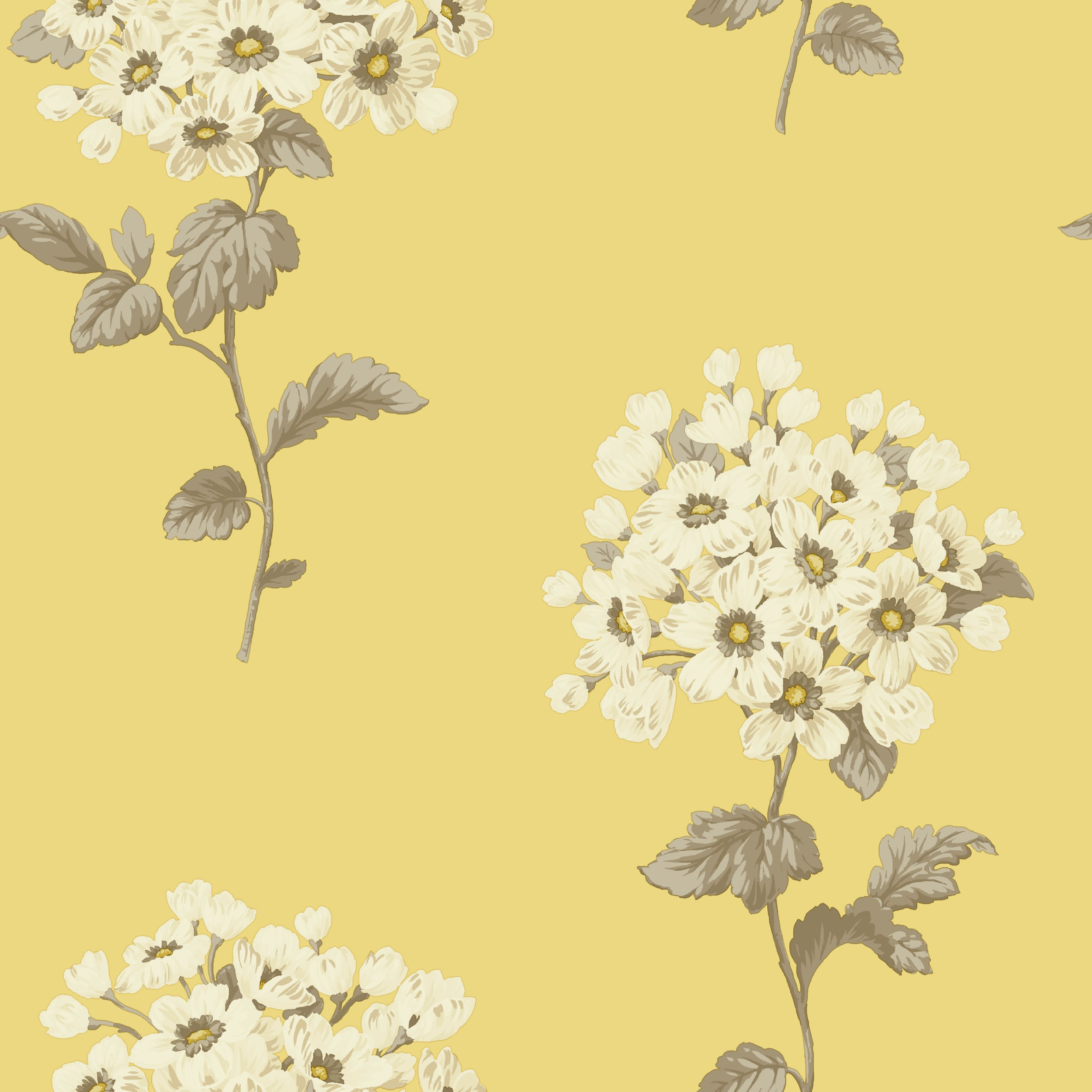 Yellow Kitchen Wallpaper Cupboard Lining Pretty In Duck Egg Too Pom Pom Yellow Wallpaper