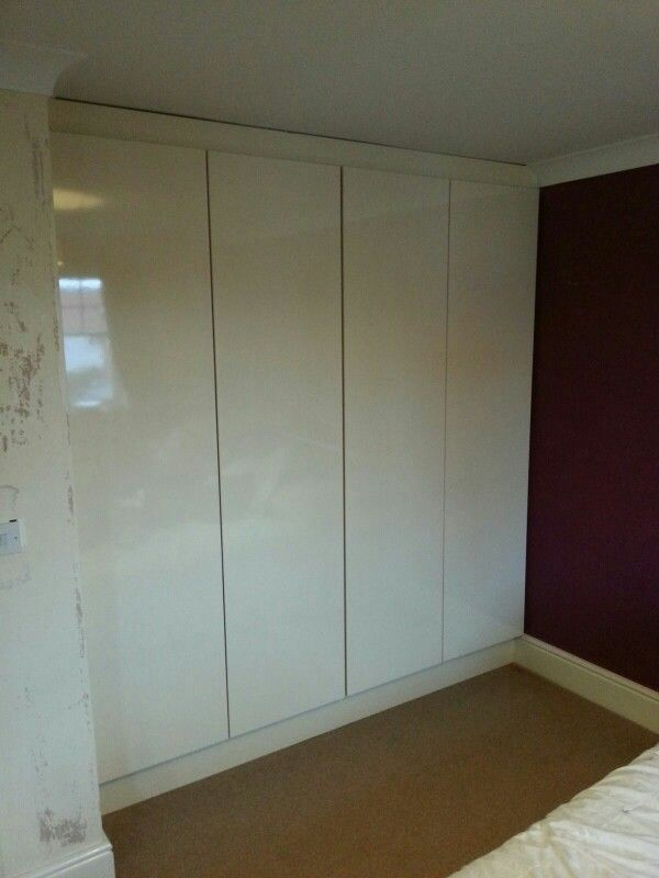 Cream Gloss Laminate Fitted Wardrobe Fitted Wardrobes Laminate Wardrobe