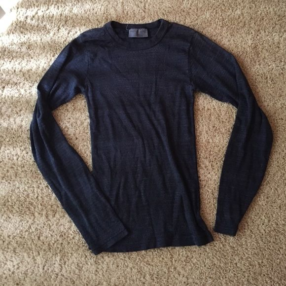Michael Stars dark blue sparkle top! Perfect condition. Snug fit. An absolutely stunning long sleeve shirt! Michael Stars Tops Blouses