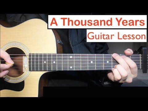 A Thousand Years Christina Perri Guitar Lesson Tutorial Chords