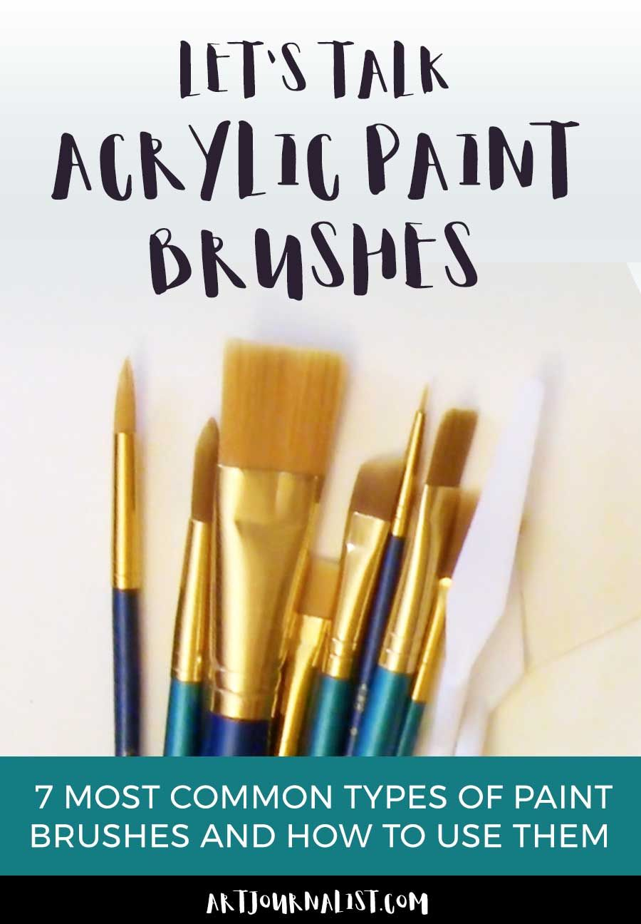 Acrylic Paint Brushes 101 Understanding Brush Types And