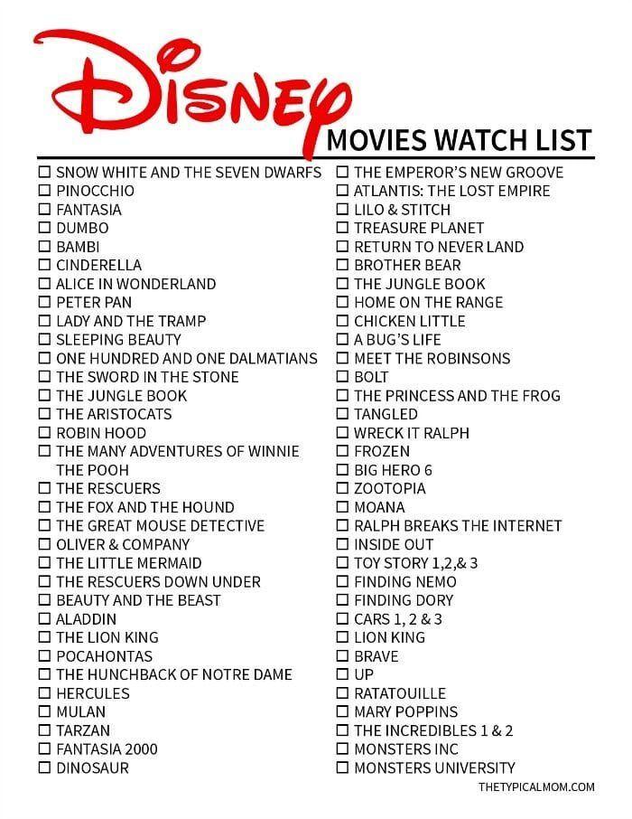 Disney Film Liste