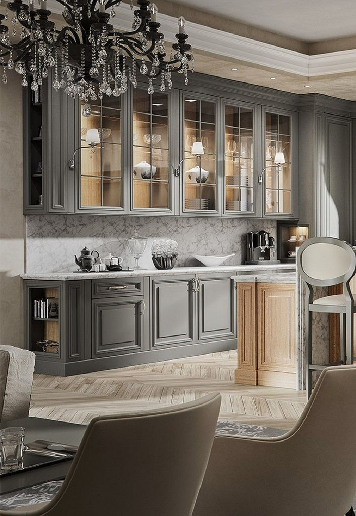 Like The Gray Painted Cabinet Look Great Alternative Paint Color For Cabinets Instead Of Painting Them White Black Or Staining Them But On Home Home Kitchens