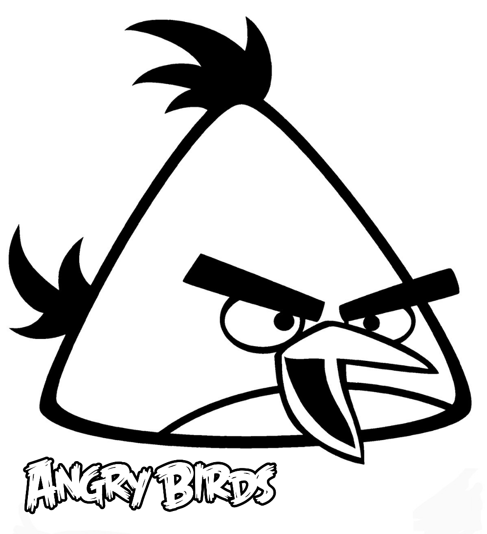 Chuck Is A Very Goofy And Hyperactive Bird Yellow Angry Bird Coloring Pages On Bubakids Animal Bird Coloring Pages Coloring Pages Cartoon Coloring Pages
