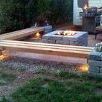 Hull Patio, Pergola, Propane fire pit, custom benches, pillar planters, lighting - Modern - Patio - boston - by 1-877-LAWN-CREW