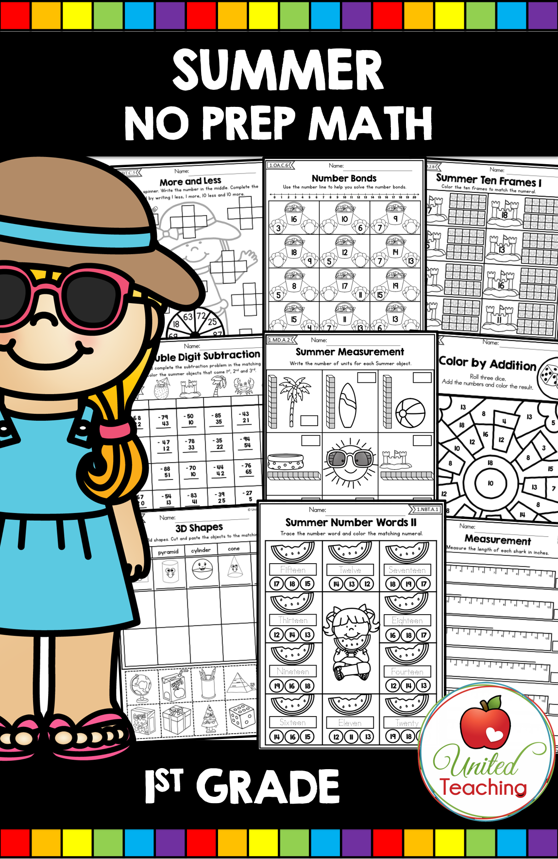 Summer Math Packet 1st Grade Distance Learning