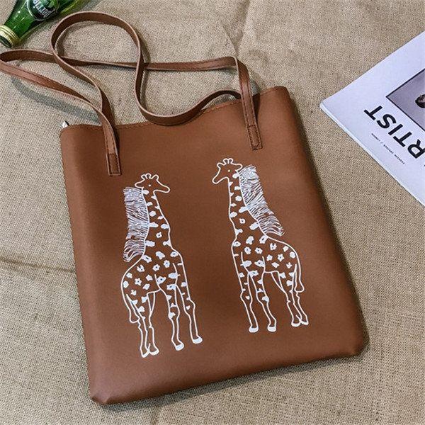Photo of Women Cartoon Print Handbag Large Capacity Shoulder Bag