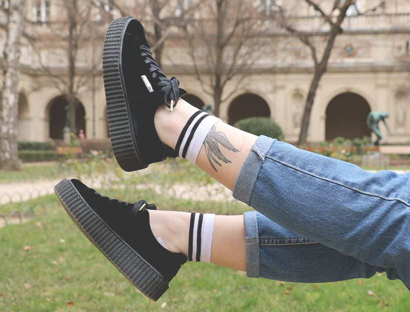 Outfit tenue mode pull noire creepers velvet puma by rihanna fenty. Find  this Pin and ... 6030a661f