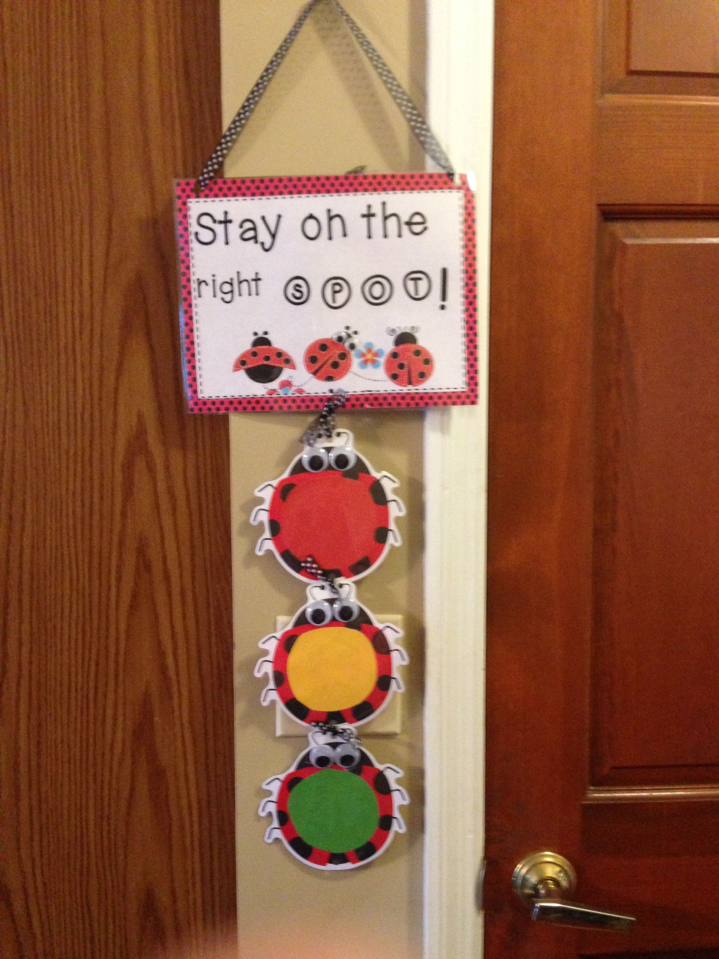 This is the behavior chart that i made for my preschool classroom