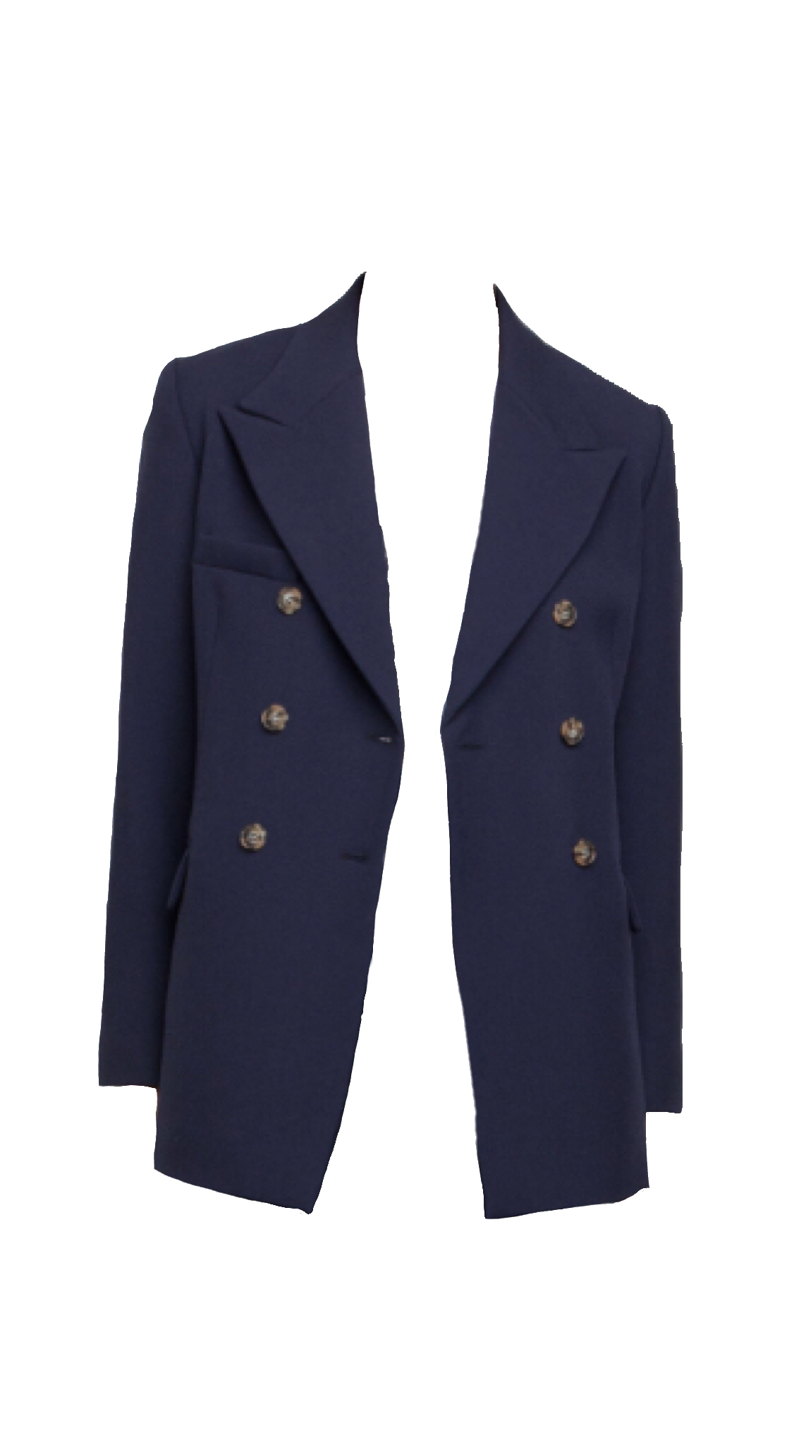Alexachung Navy Double Breasted Jacket Fashion Jackets Clothes