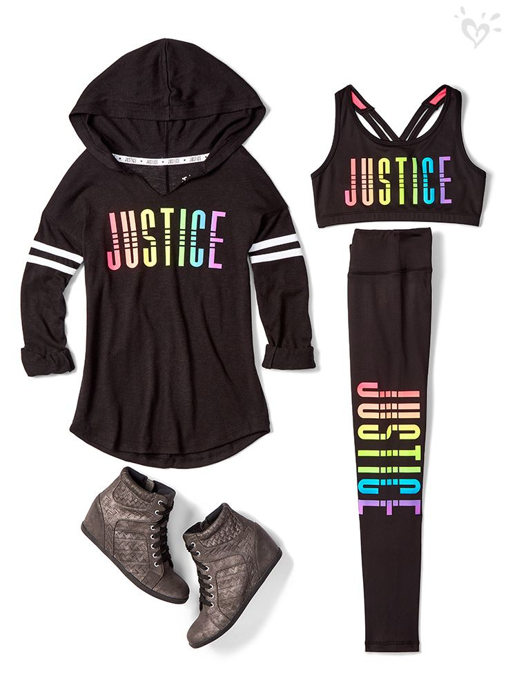 Girls Activewear Sport Gym Clothes Justice Clothing Outfits Girls Activewear Justice Clothing