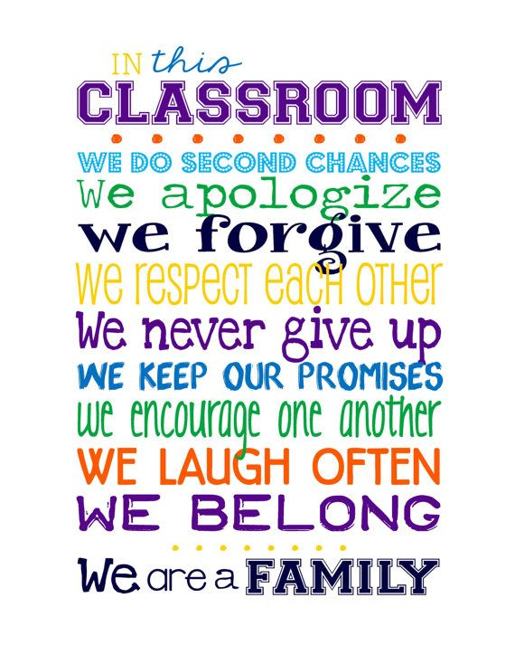 TEACHER GIFT - Classroom Rules for High School or Middle ...