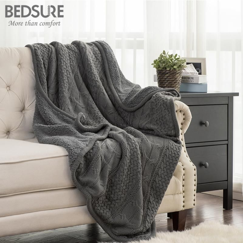 Throw Blankets For Couches Bedsure Knit Sherpa Throw Blanket Fuzzy Microfiber Fleece Soft