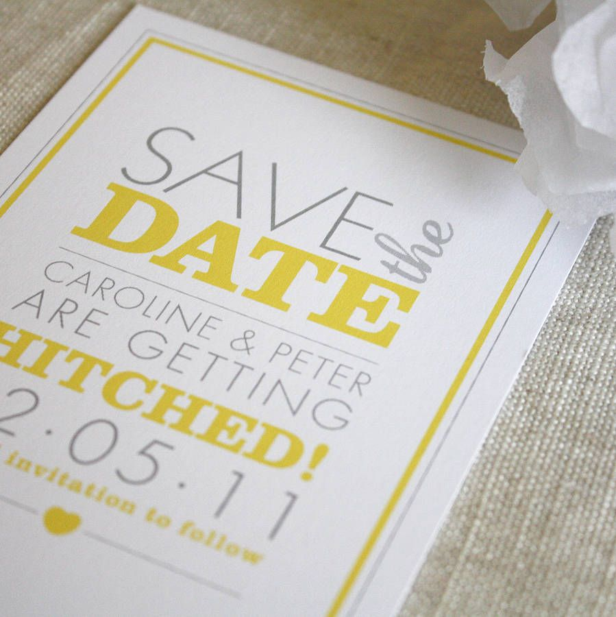 amelia save the date invitation by project pretty | notonthehighstreet.com