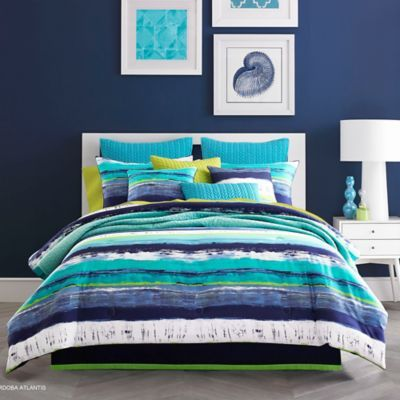 J by J Queen New York Cordoba Comforter Set in Teal Cordoba