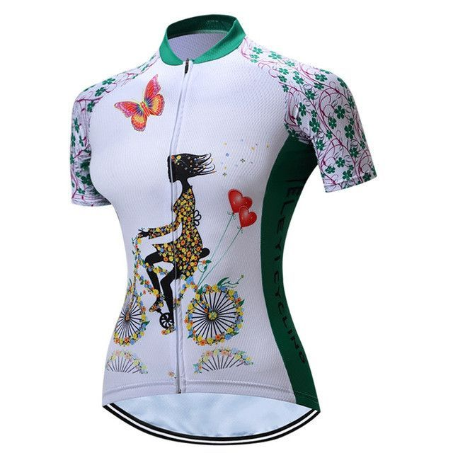 TELEYI Women Bicycle Cycling Jersey Cycling Clothing Top Mtb Maillot  Quick-dry Riding Ciclismo Bike Outdoor Sportswear CC6312 70d6d4f01