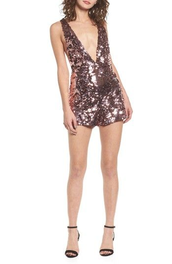 fcff0983c96 Free shipping and returns on LOST INK Sequin Romper at Nordstrom.com.  Sparkle and