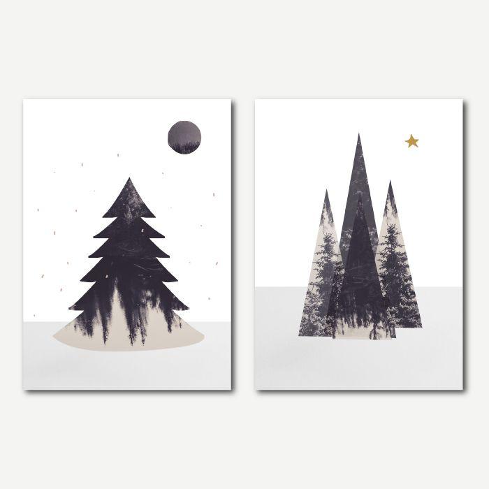 Design kerstkaarten - OCHER #collage #illustratie #kerst