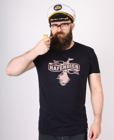 a50435d2595772 T-Shirts mit Print - Hafendieb Unisex T-Shirt navy - ein Designerstück von  Hafendieb bei DaWanda