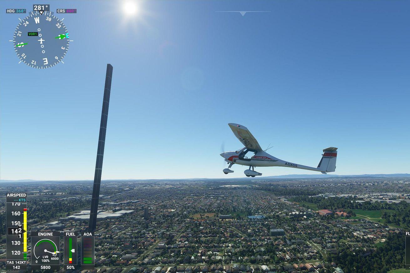 Microsoft Flight Simulator has some amazing bugs, glitches