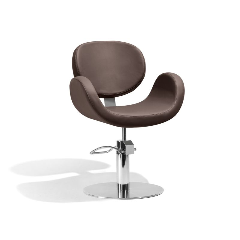Conscientia Cutting Chair - Brown + Round Base - With a flowing ...