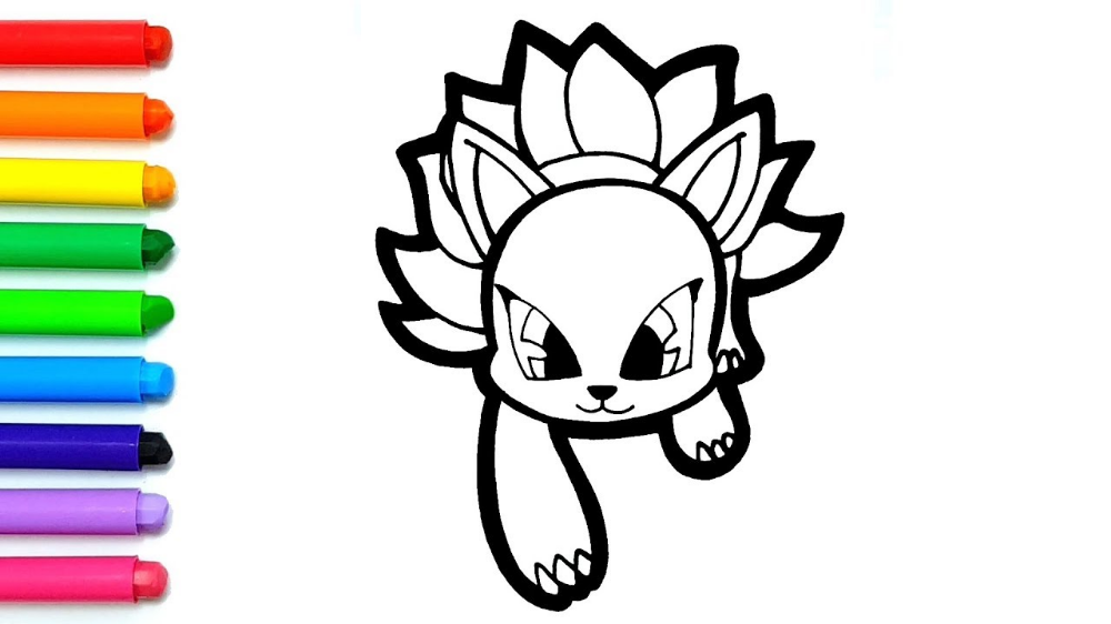 신비아파트 구미호 색칠 Google 검색 귀여운 캐릭터 그리기