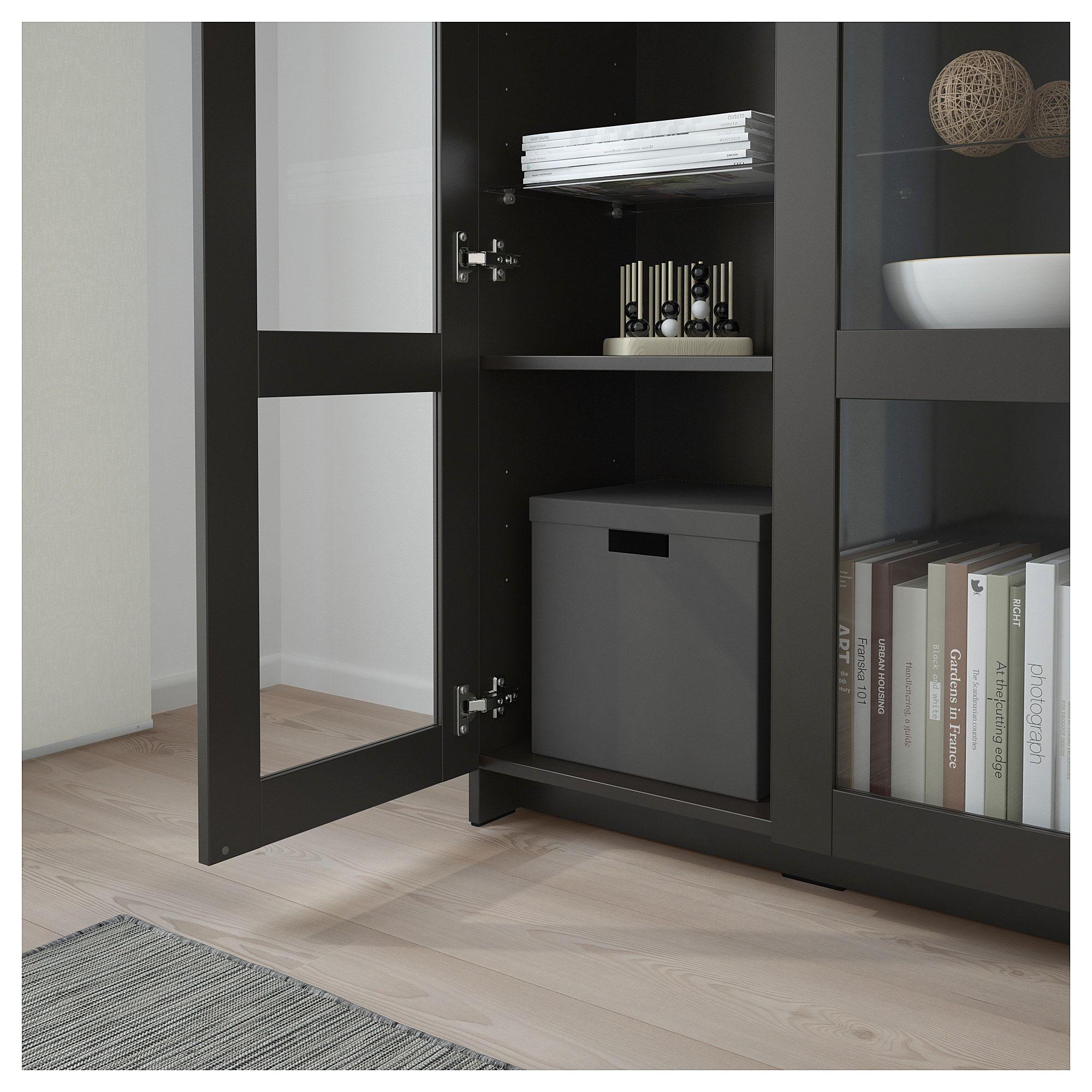 Dressing Ikea Angle Sans Porte ikea - brimnes cabinet with doors glass, black | armoire