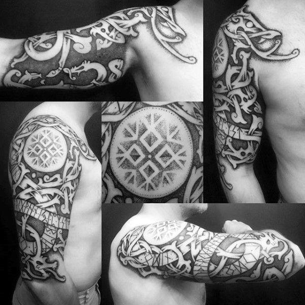 70 Viking Tattoos For Men Germanic Norse Seafarer Designs Viking Tattoos For Men Traditional Viking Tattoos Viking Tribal Tattoos