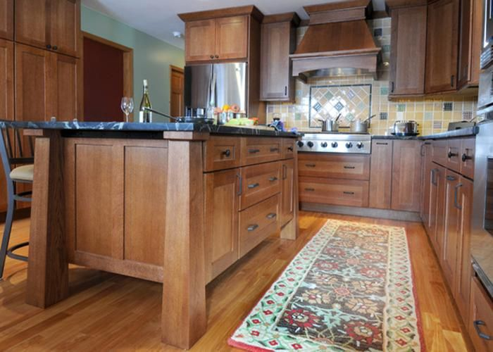 Red Oak Shaker Kitchen Cabinets | Kitchen Ideas | Pinterest ...