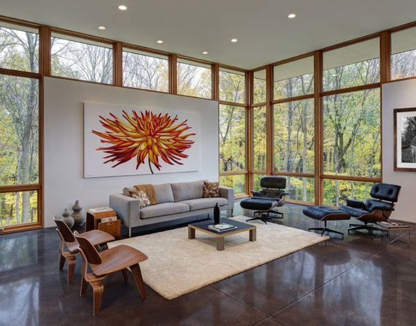 Modern Refuge Surrounded By Forest In Wisconsin: Fieldstone House