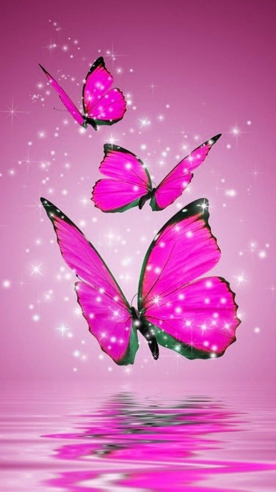 Pink Butterfly Hd Wallpapers For Android Butterfly Wallpaper Blue Butterfly Wallpaper Butterfly Painting