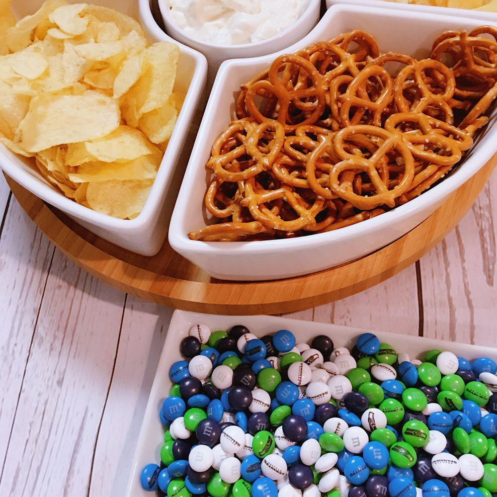 Chips dip and seattle seahawks mms yum appetizers