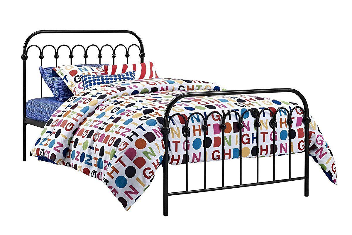 Novogratz Bright Pop Metal Bed Adjustable Height For Underbed