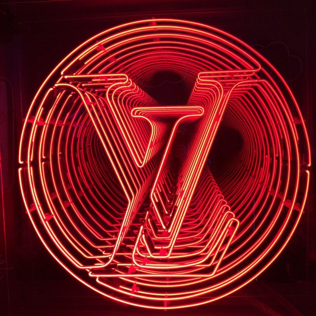 Louis Vuitton - Kemp London - Bespoke neon signs, prop hire, large format printing