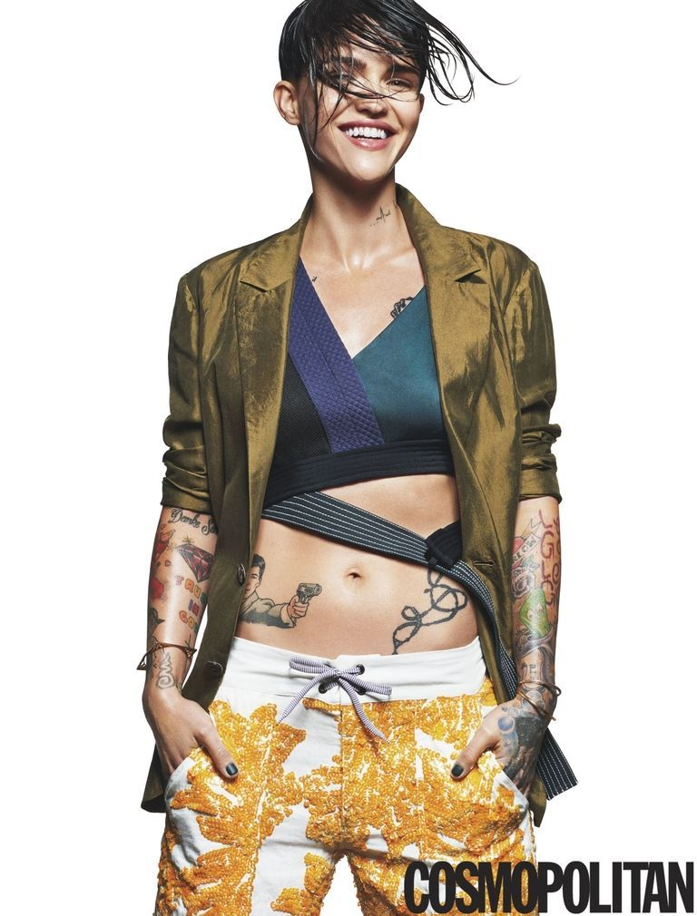 Ruby Rose Used To Wish She D Been Born A Boy Ruby Rose Orange Is The New Black Star Ruby