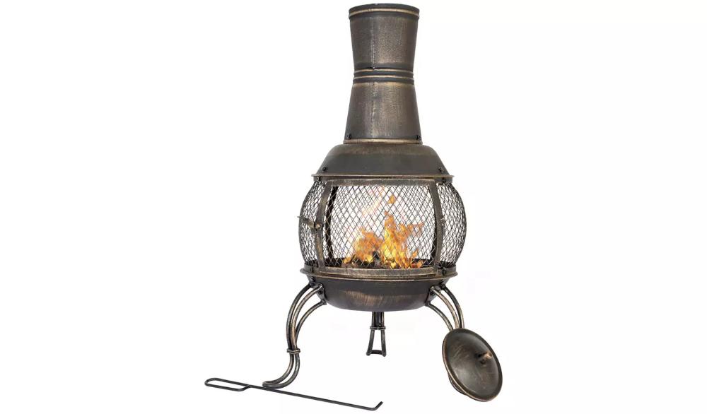 Buy La Hacienda Medium Steel Chimenea Bronze Chimineas And Wood Burners Argos In 2020 Wood Hacienda Wood Burner