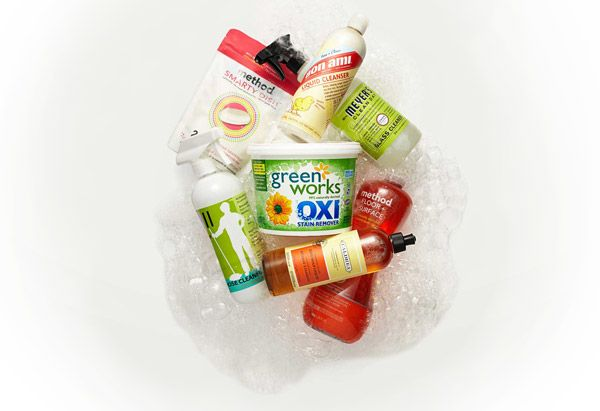 Eco-friendly cleaning supplies.