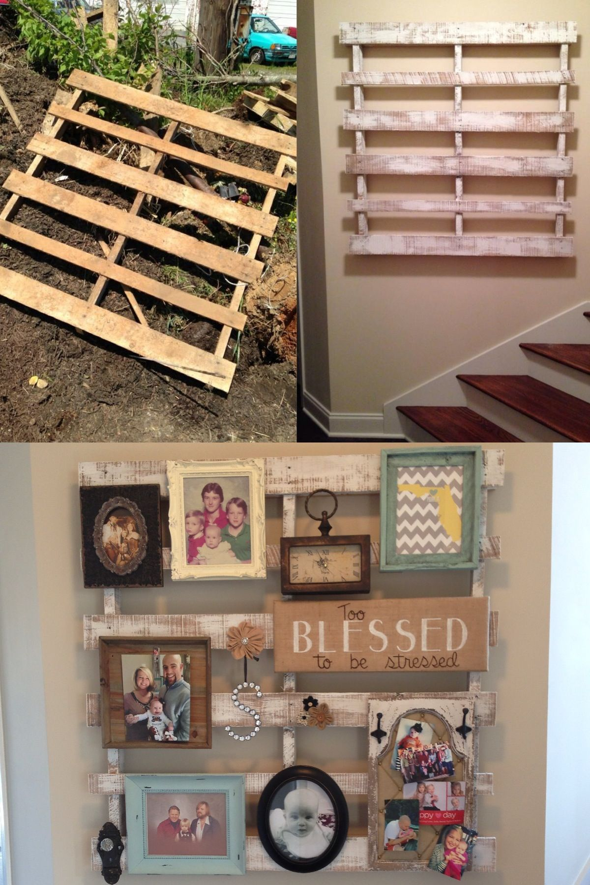 Discarded Pallet Wall Decor Super Easy Diy