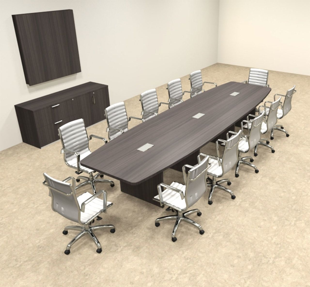 Modern Boat Shapedd 14 Feet Conference Table Of Con C135 Conference Table Modern Conference Table Office Table Design