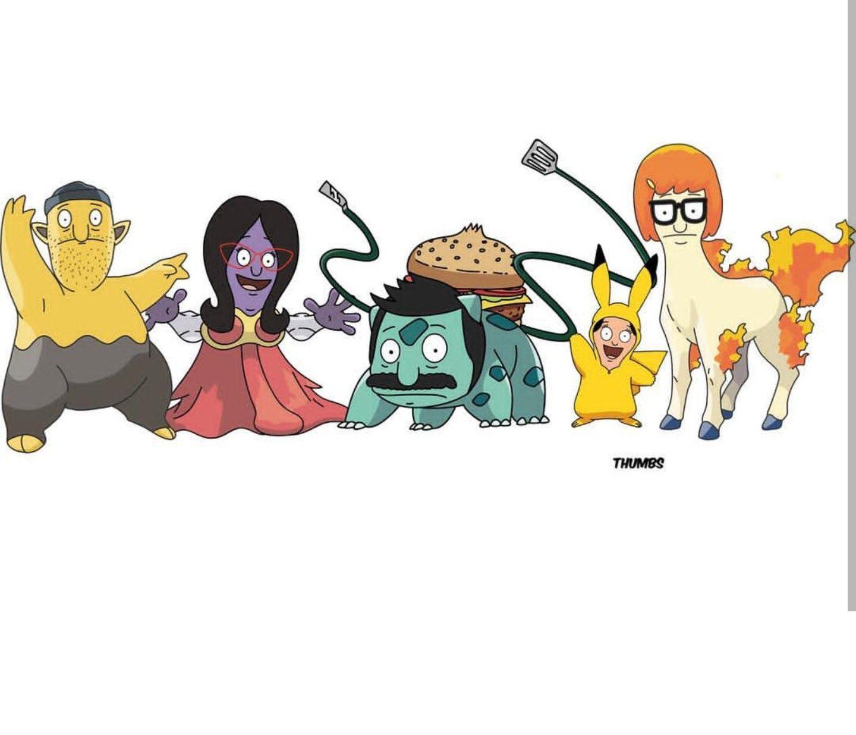 BOB/'S BURGERS FOOD PYRAMID 24X36 POSTER TV CARTOON LINDA TINA GENE LOUISE NEW!!!
