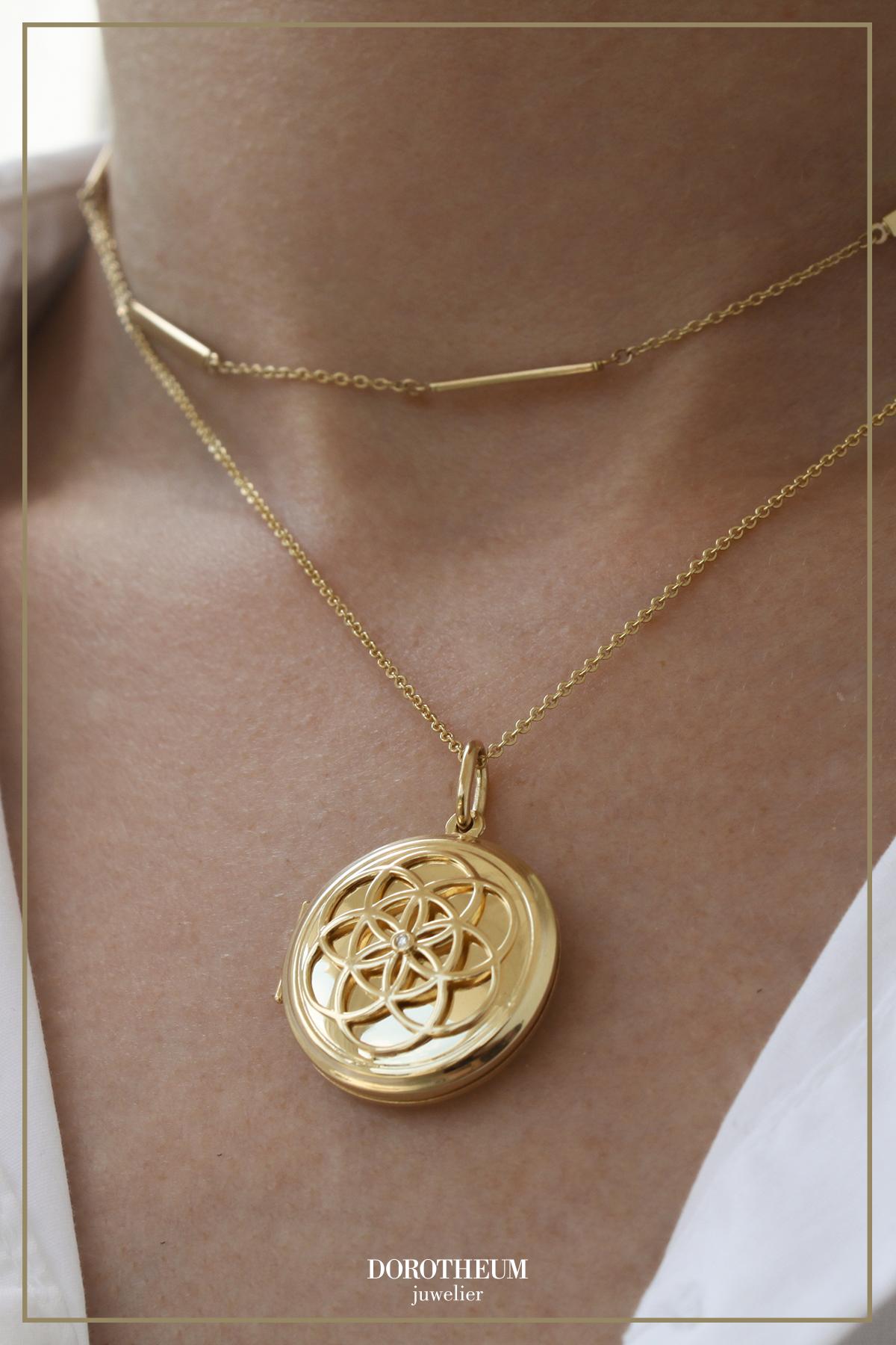 Brillant Medaillon Medaillon Goldketten Gold