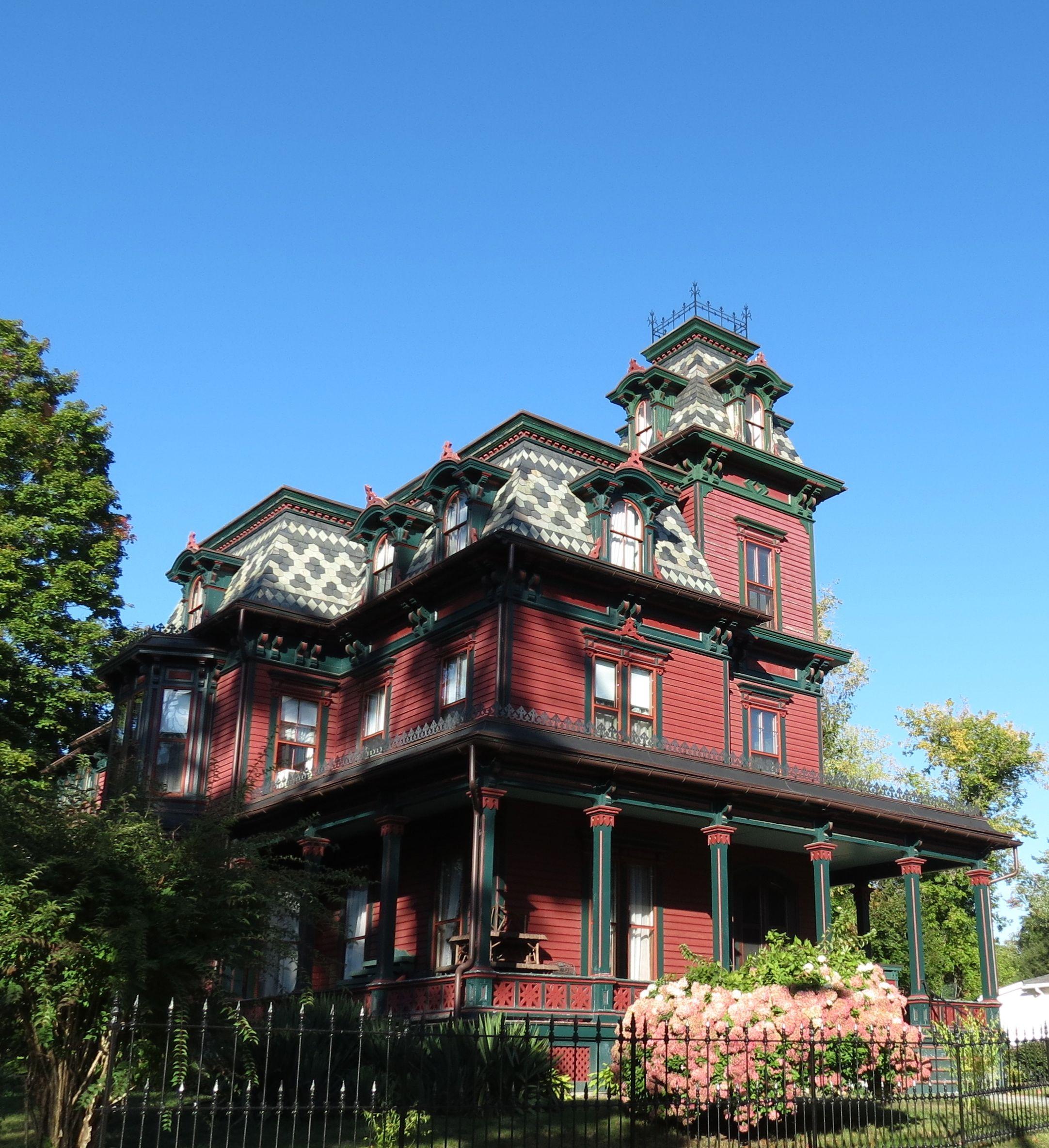 Pleasant Street, Monson, Massachusetts. What a beauty! Love the roof detail.