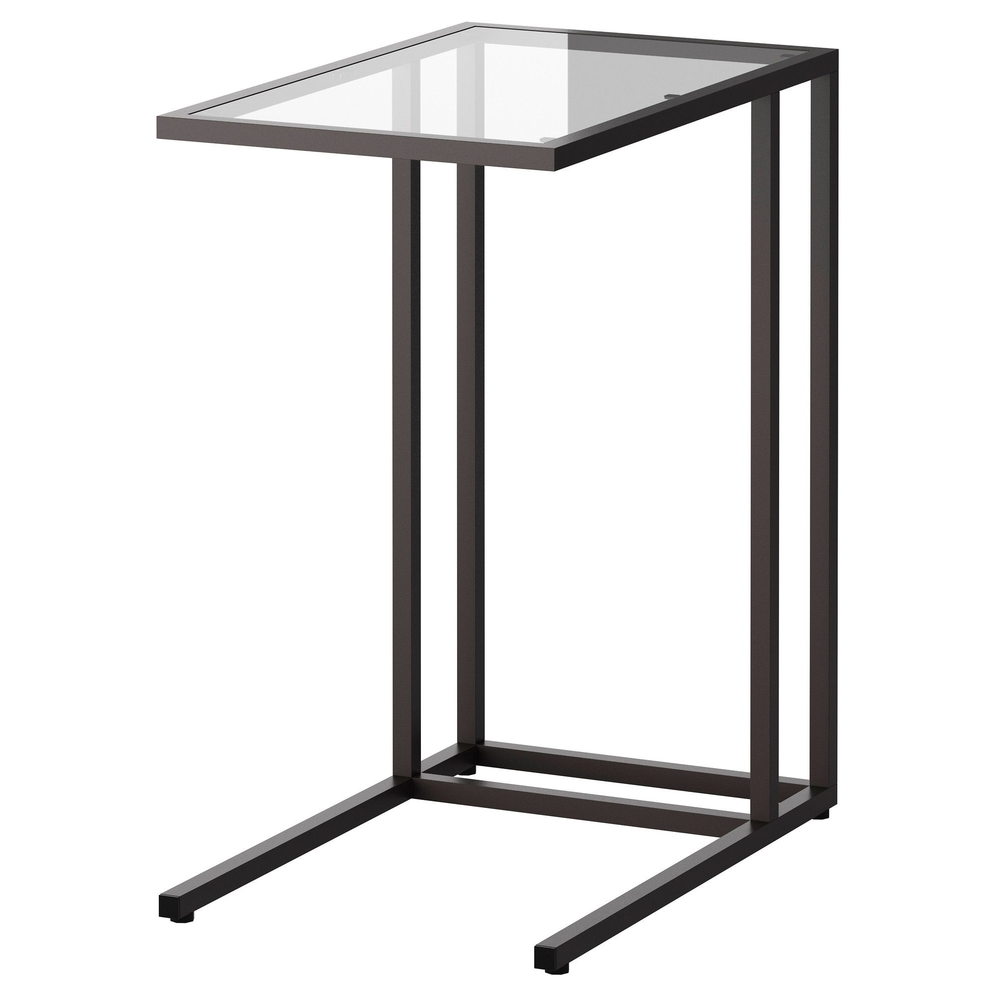 Ikea Küche Side By Side Kühlschrank VittsjÖ Laptop Stand, Black-brown, Glass, 35x65 Cm - Ikea | Laptop Stand Ikea, Ikea, Laptop Stand