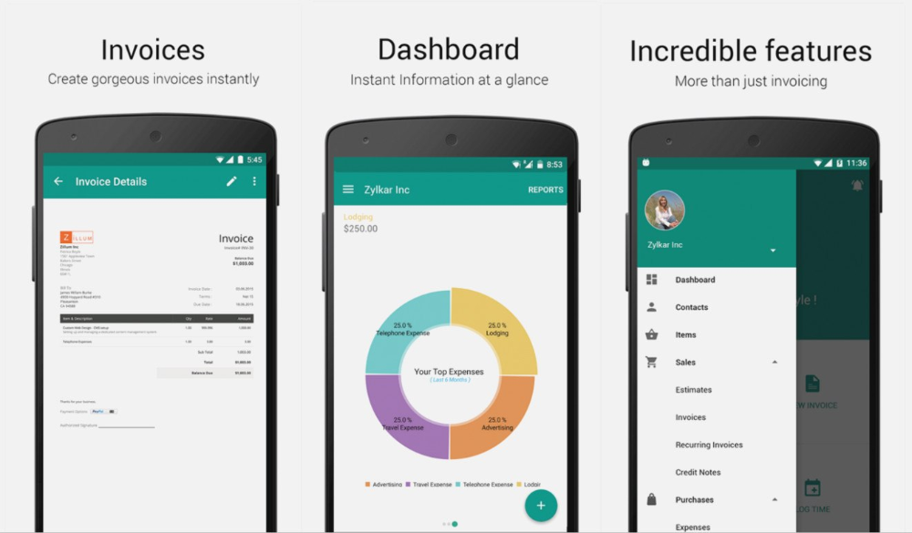 Free Invoice App For Android Dascoop The Invoice And