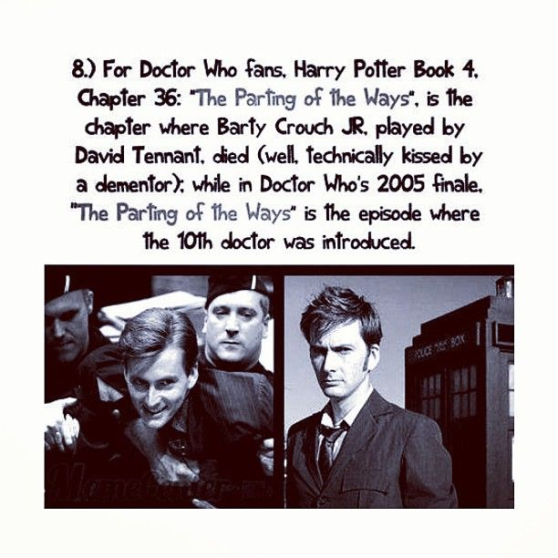 Pin By Emily Oum On Doctor Who Barty Crouch Jr Doctor Who 2005 Harry Potter Facts